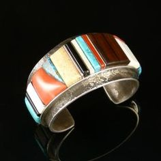 Cobbled Inlay Cuff by Wes Willie - Garland's Indian Jewelry. $1,950