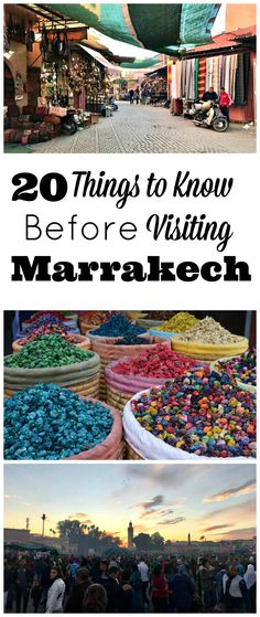 Marrakech is a city unlike any other. The city can be overwhelming to new visitors, we certainly were! So I put together an extensive list of things to know before visiting Marrakech to help other newbies acclimate and have a memorable vacation. #AfricaTravelAdventure