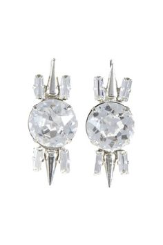 Fallon Crystal Spike Earrings #holidaystyle