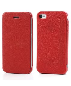 iPhone 4/4S Ultra Dunne Flip Cover Rood