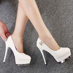 Bridal Shoe Clips Women Pumps!! New Thin Heels Rhinestone Wedding Shoes Ultra High Heels Platform Single Shoes Bridal Shoes White Princess High Heeled Shoes Blue High Heels From Weddingdressseller, $23.04| Dhgate.Com