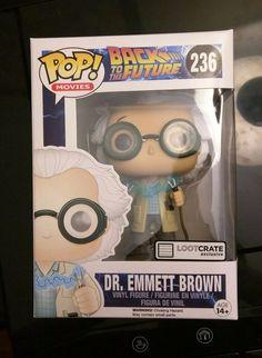 Pop! Vinyl Dr.Emmett Brown #236 Loot Crate Exclusive October 2015: TIME