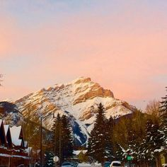Sunset over Cascade Mt. Banff, Culture, Mountains, Sunset, Instagram Posts, Travel, Outdoor, Voyage, Trips