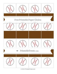 Free Sepia Baseball Paper Chains