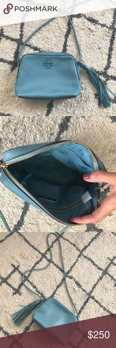 Tory Burch Camera Bag Blue Tory Burch crossbody Bag - only used a handful of times, Mint condition. Tory Burch Bags Crossbody Bags