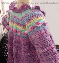 Girl Sweater Crochet Pattern 112