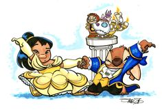 Lilo and Stitch as Beauty and the beast character