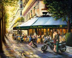 Gulay Berryman. Sunday Afternoon at Les Deux Magots, Paris: levkonoe