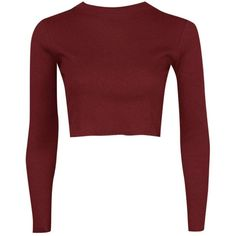 Boohoo Lucy Ribbed High Neck Long Sleeve Crop Top | Boohoo ($16) ❤ liked on Polyvore featuring tops, crop top, layered tops, long sleeve jersey, jersey crop top and color block tops