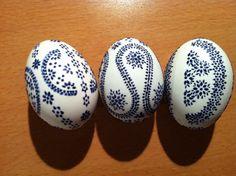 Ostereier - Enteneier in der Bossiertechnik / sorbian easter eggs