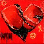 C6-1003 par Danielle Champoux  #Art #Coeur #Heart #Artwork #Artist #Painting #Peinture Heart Artwork, Artist Painting, Symbols, Color, Flowers, Paint, Colour, Glyphs, Icons