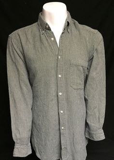 The Territory Ahead Green Checked Large Long Sleeve Button Front Shirt #TheTerritoryAhead #ButtonFront