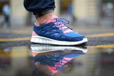 Nike Free Run 2 - Brave Blue/Atomic Pink Via: Tenisufki.eu