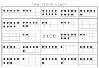Printable Ten Frame Bingo and Ten Frame Spinners - This is from a K blog. I would definitely use these if I was in the classroom