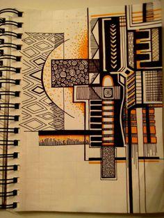 Geometric Design by on DeviantArt Zentangle Patterns, Zentangles, Geometry Pattern, Op Art, Types Of Art, Geometric Designs, Islamic Art, Watercolor Illustration, Line Drawing