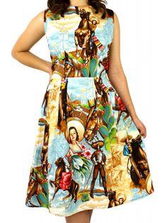 Hemet Women's Cowgirls and Horses Dress