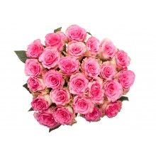 Pink and White Bi-color Rose Bouquet