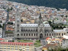 Basilica in Quito, Ecuador.