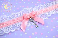 Lace Choker, Lolita Accessories, Kawaii Choker, Fairy Kei Accessories, Kawaii Jewlery, Lace Necklace, Sweet Lolita, Japanese Fashion by RachelMarieClay on Etsy