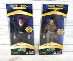 Star Trek LE Capt Kirk and Mr Spock Figures 9in Playmates A Piece of the Action #Playmates #Kirk #Spock #Figures #Star #Trek #StarTrek