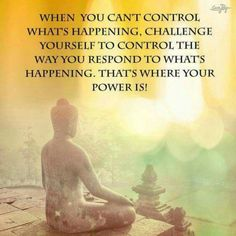 More quotes on taking control...