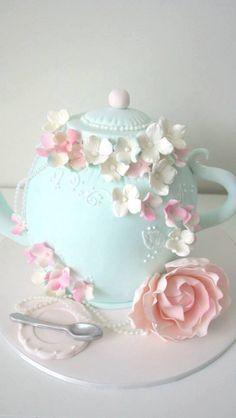 Afternoon Tea(pot) Cake ~ very cute