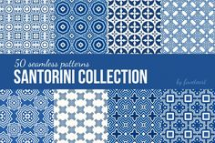 This pattern collection was inspired by magestic Greece island Santorini, where most of the houses are white and blue. All patterns are seamless, this means that you will be able to use it for as large surface as you may find. Santorini pattern collection goes both in EPS version (you'll need Illustrator or other graphic editor that works with vector art) and JPG.