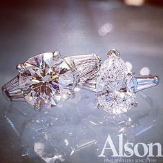 Diamond engagement rings from our Alson Signature Collection. Call 216-464-6767 for more information.