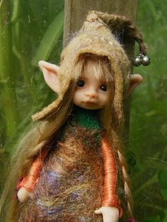 OOAK Fairy Art doll by artist who offers on eBay and Etsy