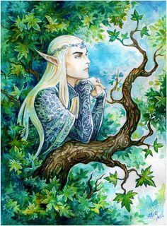 """Summer in Mirkwood by Candra.deviantart.com on @deviantART - Thranduil from """"The Hobbit"""""""