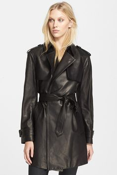 Burberry London Leather Trench