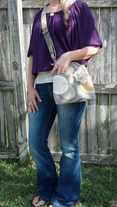Messenger Bag/Purse by CaraLeAnnDesigns on Etsy, $45.00