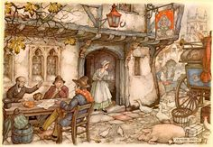 Old Queen's head - Anton Pieck