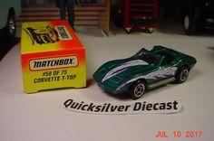Matchbox Corvette T Top Green 1996 58 Box