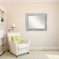 Romano Wall Mirror - Large' 35 x 29-inch TARGET $129.99 - on short wall in living room