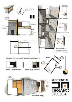 38 trendy Ideas for house sketch architecture behance Croquis Architecture, Architecture Portfolio, Concept Architecture, School Architecture, Architecture Details, Interior Architecture, Conceptual Sketches, Architecture Presentation Board, House Sketch