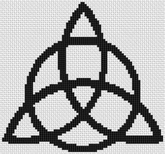 CyberMoon Emporium Witchcraft Supplies  - Triquetra Cross Stitch Pattern