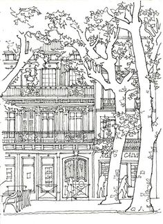 Skyscraper #10 (Buildings and Architecture) – Printable coloring pages | 324x236