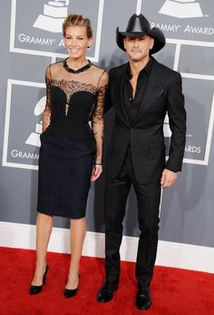 Well assorted couple Faith Hill and Tim McGraw #Grammys #STYLAMERICAN