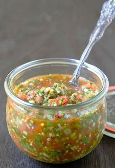 Pebre (Chilean Chili Salsa) Makes approximately 3 cups *Notes: This is the way Ms. M's grandmother taught her to make pebre.  Ms. M is from Santiago, so her pebre may look very different from a pebre made in someone's home in another part of the country.  That's the beauty of this condiment!  Some versions use tomatoes, …