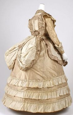 Late 1860s afternoon dress via The Costume Institute of The Metropolitan Museum of Art