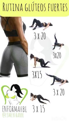Gym Workout Tips, Butt Workout, Easy Workouts, Workout Videos, Yoga Posses, Gymnastics Workout, Gym Routine, Do Exercise, Keep Fit
