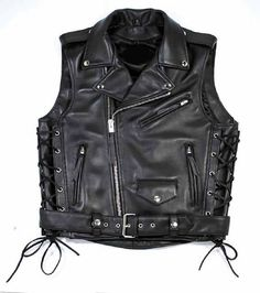 Mens Leather Waistcoat, Leather Bike Jacket, Harley Davidson Womens Clothing, Best Leather Jackets, Motorcycle Vest, Leather Company, Biker Chic, Natural Leather, Outfits