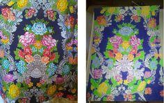La primera imagen es una falda de alicantina y la segunda es el dibujo central de la falda