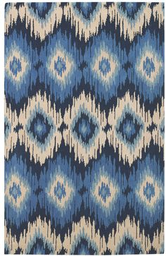 RugStudio presents Capel Rally 3870 Navy 440 Hand-Tufted, Good Quality Area Rug
