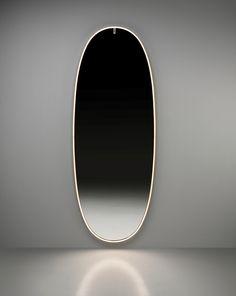 Philippe Starck, Long Mirror, Oval Mirror, Hans Wegner, Mirror Decor Living Room, Bedroom Mirrors, Master Bedroom, Salon Mirrors, Bronze