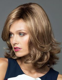 Carrie Wig by Noriko. Tousled curly style falling just below the shoulders  with a soft 58e9e681b7