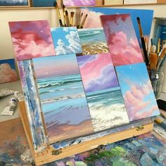 What is Your Painting Style? How do you find your own painting style? What is your painting style? Is there a way to make sure you have it? Cute Canvas Paintings, Small Canvas Art, Mini Canvas Art, Easy Paintings, Art Mini Toile, Aesthetic Painting, Aesthetic Gif, Artist Aesthetic, Aesthetic Women