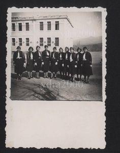 GREECE  EON  DICTATORSHIP METAXAS YOUTH GIRLS  ORIGINAL SMALL PHOTO 1936-40