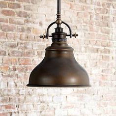 Bring a nostalgic flair to your kitchen or dining areas with this bronze mini-pendant chandelier. 47 high x wide. Canopy is wide. Style # at Lamps Plus. Pantry Lighting, Kitchen Island Lighting, Kitchen Pendant Lighting, Kitchen Pendants, Barn Lighting, Pendant Chandelier, Pendant Light Fixtures, Home Lighting, Lighting Ideas